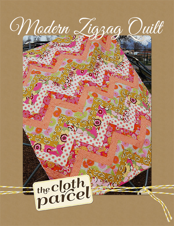 Modern Zigzag Quilt Pattern Giveaway