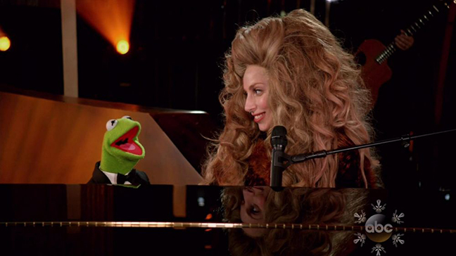 Gaga and Kermit