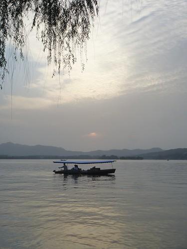 Zhejiang-Hangzhou-Lac Ouest-coucher du soleil 1 (3)