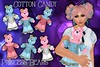 Cotton Candy Princess Teddy Bears - Wearable