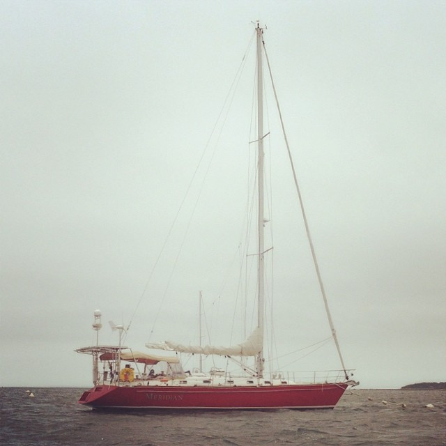 The Meridian, our trusty vessel.