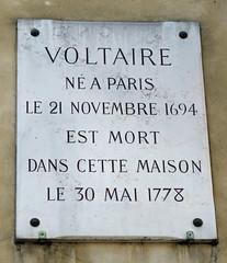 Photo of Voltaire marble plaque