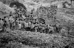 Exodus from Tigray, Ethiopia for Sudan. 1984