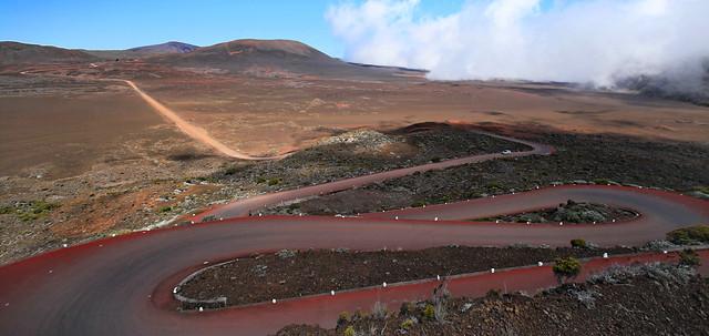 Île de la Réunion: descente vers la Plaine des Sables par la route du Volcan (France)
