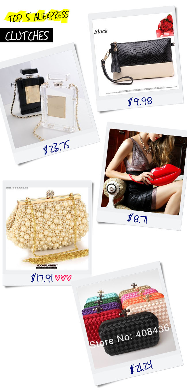Top 5 AliExpress: Clutches