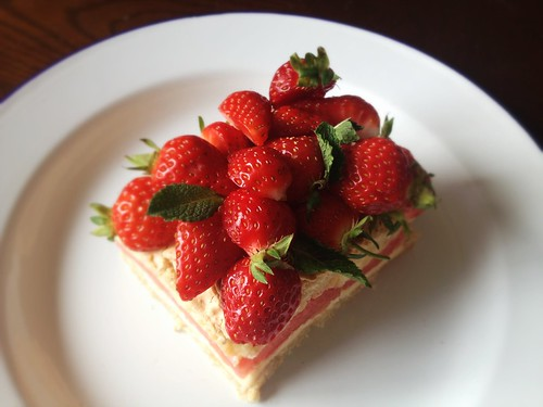 strawberry watermelon gluten-free cake