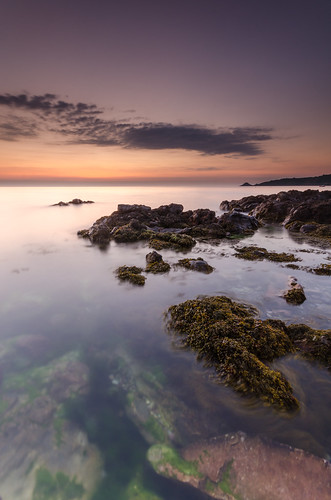 seaweed clouds sunrise bay nikon rocks long exposure sigma le lee jersey 1020mm filters bouley d7000 printed6x4