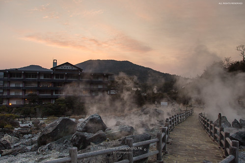 sunset japan landscape hongkong steam heat 日本 onsen sulphur sulfur hotspring 日落 nagasaki bg 風景 kyushu unzen 溫泉 九州 2014 日式 温泉 長崎 雲仙 shimabara 露天風呂 黃昏 地獄 雲仙地獄 地熱 蒸氣 硫磺 小浜温泉 bellphoto obamaonsen