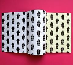 Romanzi, collana di Tunué edizioni. Progetto grafico di Tomomot; impaginazione di TunuéLab. Verso del risvolto di copertina e della copertina, carta di guardia [Peter] (part.), 1