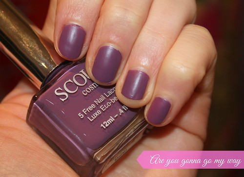 Scout Cosmetics Australian Beauty Review Nail Lacquer Ausbeautyreview blog blogger aussie honest are you gonna go my way purple light matte swatch vibrant pretty beautiful polish 5 free style long lasting colour