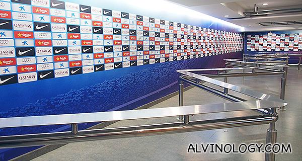 Media interview area