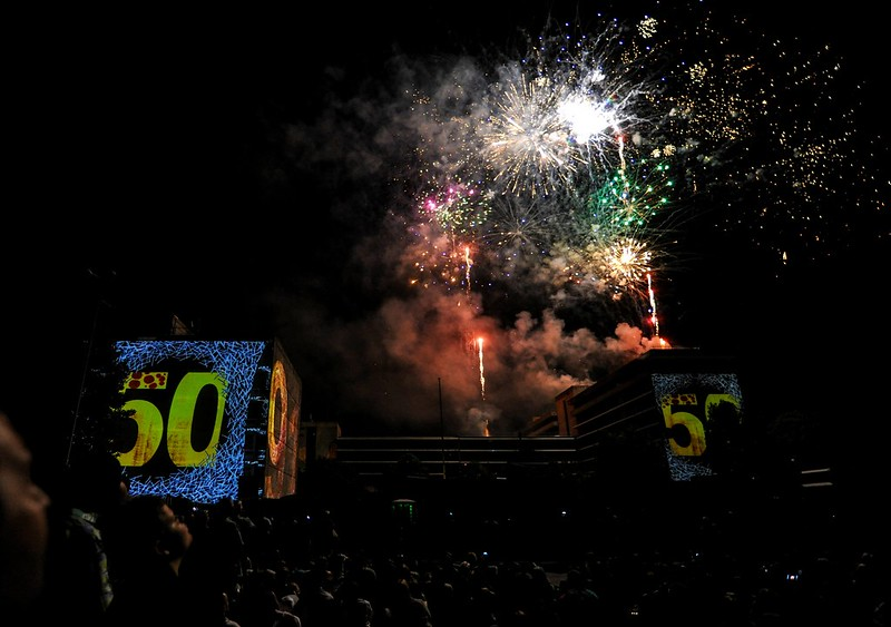 Evry Daily Photo - 50 ans de l Essonne - Concert Ask'Em Groupe - Feux D Artifices
