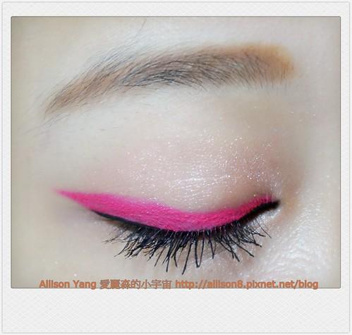 韓風彩色眼線妝-睫毛