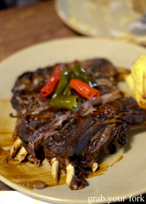 Lamb ribs with cornbread at Hartsyard, Newtown