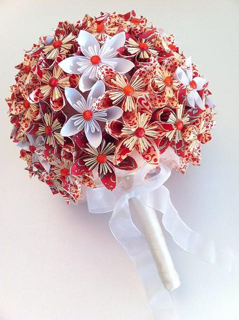 origami wedding bouquet flickr photo sharing