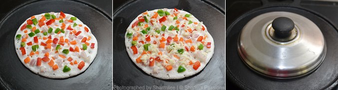 How to make pizza dosa - Step2