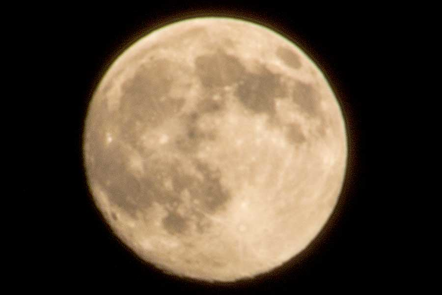 今日のお月さん