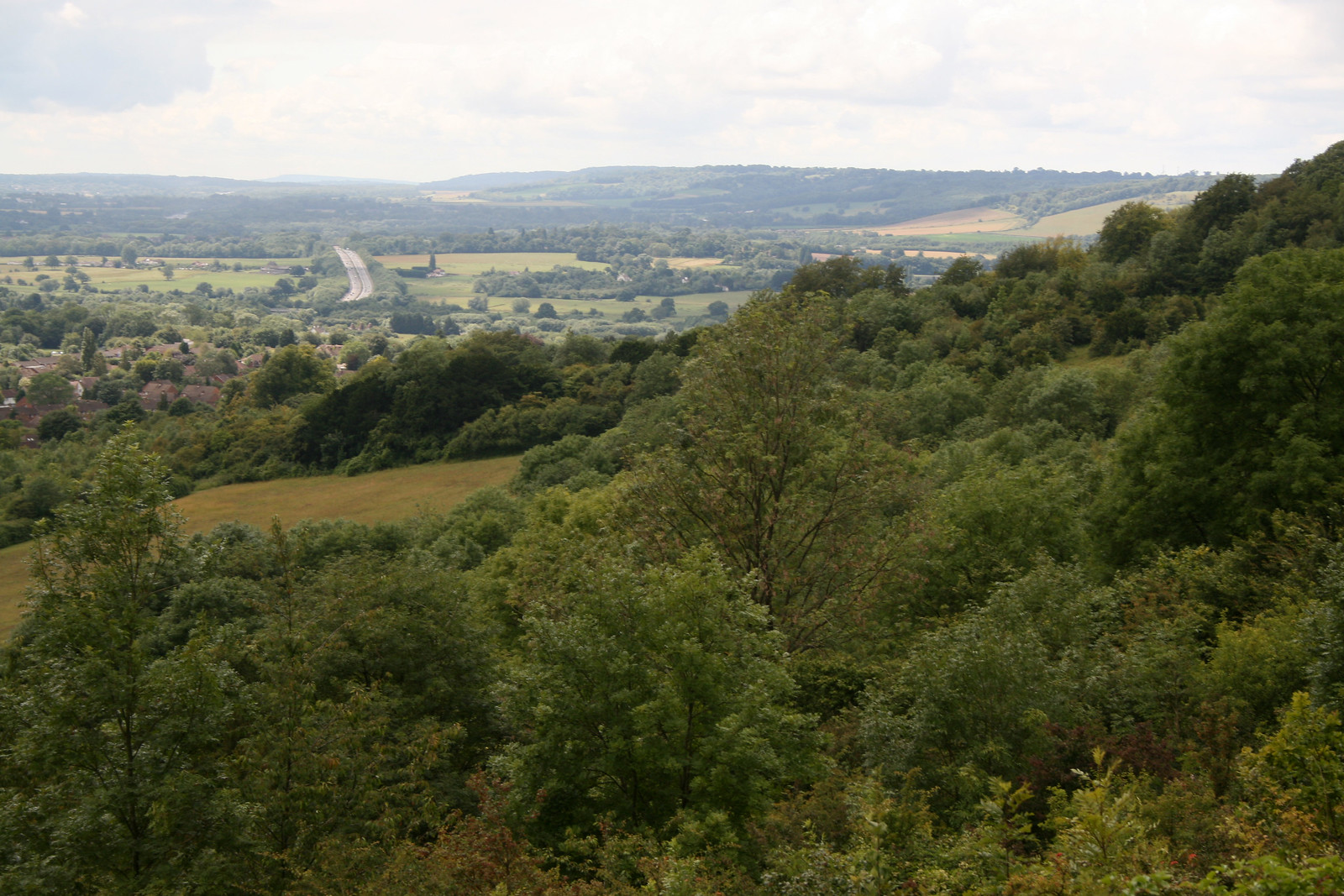 VIew from the North Downs near Otford