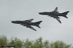 3612 & 9616 - Polish Air Force - Sukhoi SU-22M4 - 140713 - Fairford 2014 - Steven Gray - IMG_7266