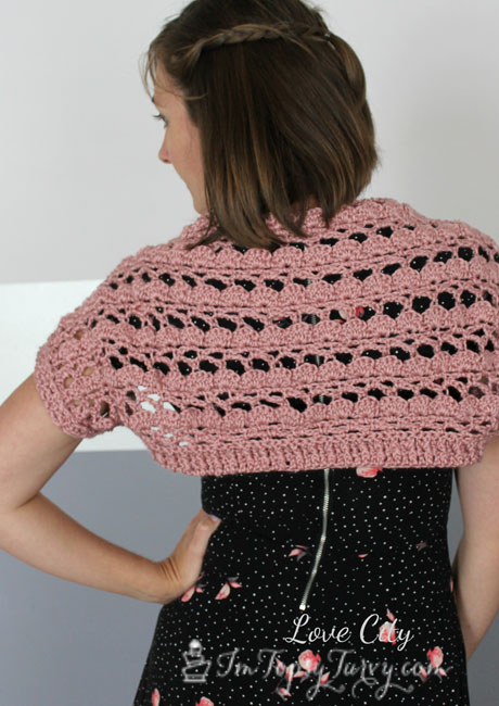 Crochet X-Stitch Shrug Free Pattern : Lacy Shell Stitch Shrug Crochet Pattern Ashlee Marie