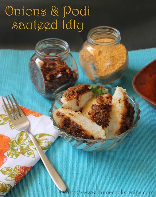 Onion and Podi sauteed idly