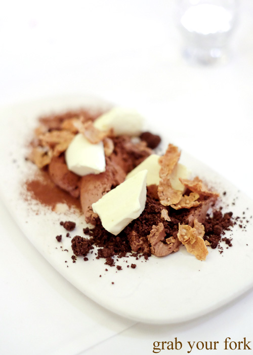 Chocolate and cornflakes dessert at the Four in Hand, Paddington