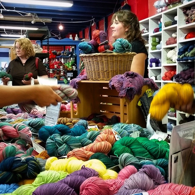 It has been a great day!  I am here for another half hour if you wanted to stop by!   #thisiscle #yarn #handdyedyarn #knit #knitting #indiedyer #destinationyarn