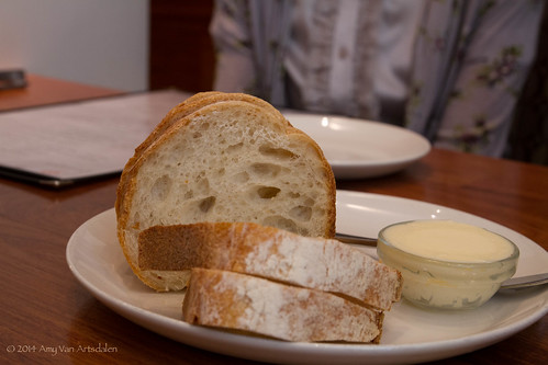 Fresh bread and creamy butter.