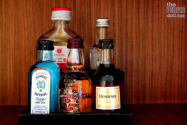 Alcoholic drinks from Hard Rock Hotel's mini-bar