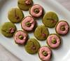 Matcha sakura macarons