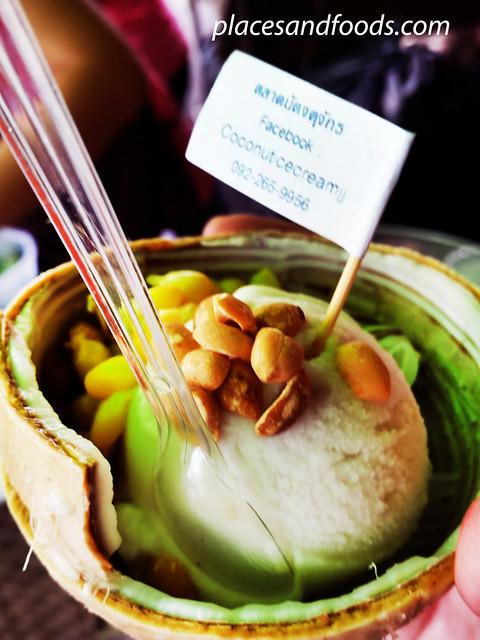 chatuchak market coconut ice cream