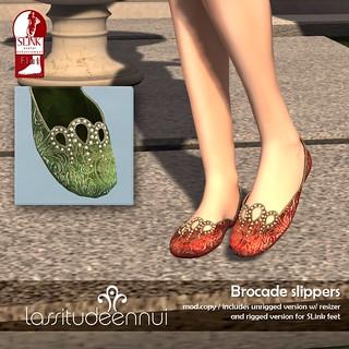 lassitude & ennui Brocade slippers