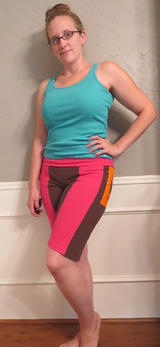 Pink & Brown T-Shorts - After