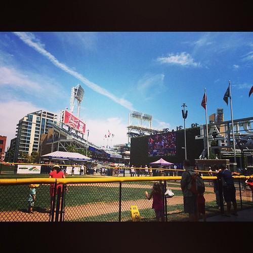 A mini ballpark in the #parkinthepark at #petcopark. A #parkintheparkinthepark? #mlb #baseball #sdpadres #sandiego #kategoestocalifornia