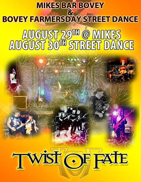 08/29/14 Twist of Fate @ Mike's, Bovey, MN & 08/30/14 Twist of Fate @ Bovey Farmers Day Street Dance, Bovey, MN