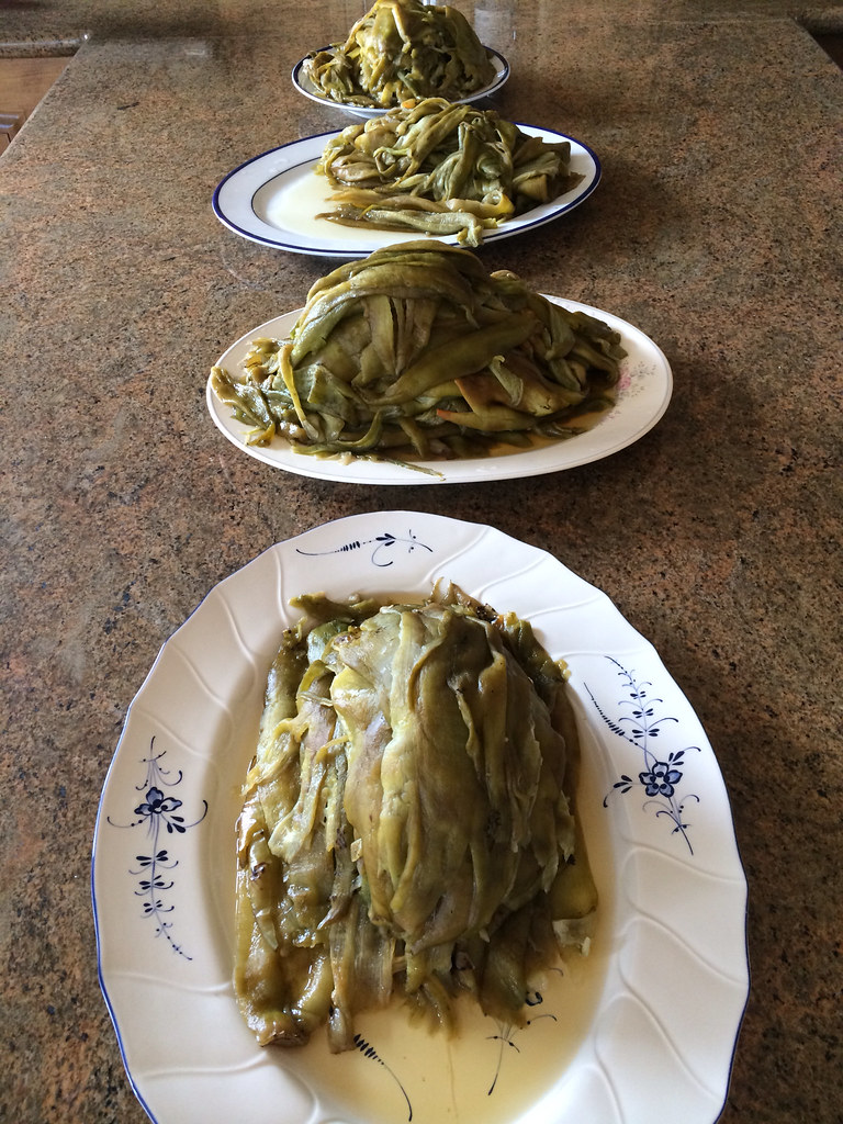 Peeled and seeded roasted green chiles