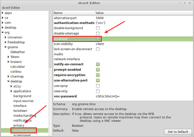 How to enable and configure desktop sharing on Linux Mint Cinnamon