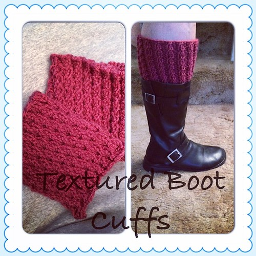 Pattern: Rebekah's boot cuffs. Not best boot to demonstrate but you get the idea.  #instacollage #knit