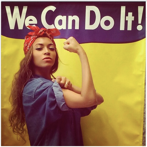 Beyonce as Rosie the Riveter