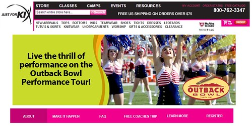 Joel Schlessinger helps send dancers to the Outback Bowl through Just for Kix