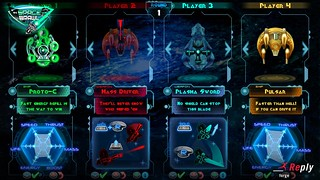 Spaceships-and-weapons-selection