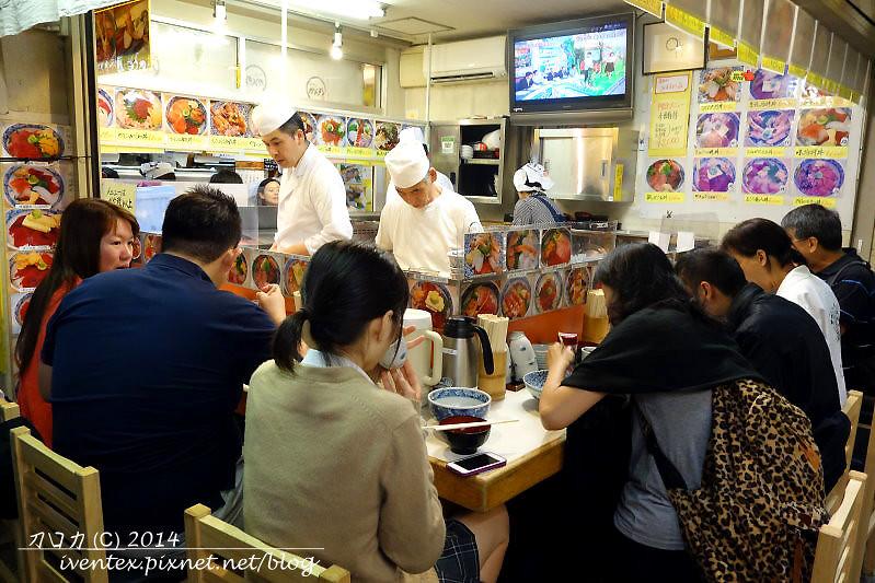 34日本東京築地市場つきじ かんの菅野商店生魚片丼飯