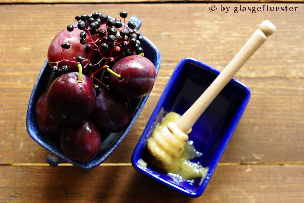 Zwetschgen Holunder Marmelade by Glasgeflüster 1 klein
