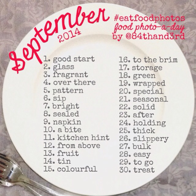 And there it is, the #eatfoodphotos list for September! #phew