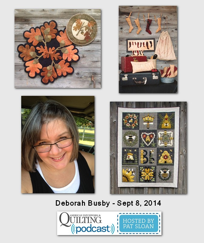 American Patchwork and Quilting Pocast Deborah Busby Sept 2014