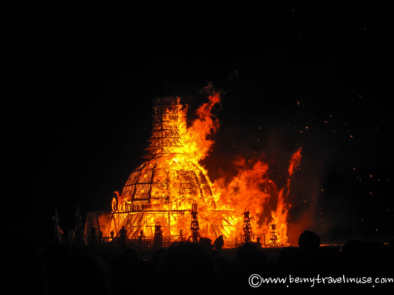 The Temple Burn at Burning Man