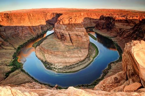 morning arizona river colorado williams unitedstates bend horesehoe