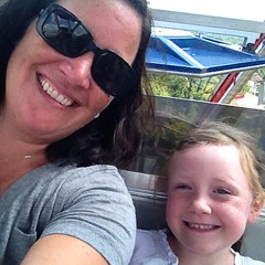 Yes. We are on the #FerrisWheel. My #brave girl. #lakecompounce
