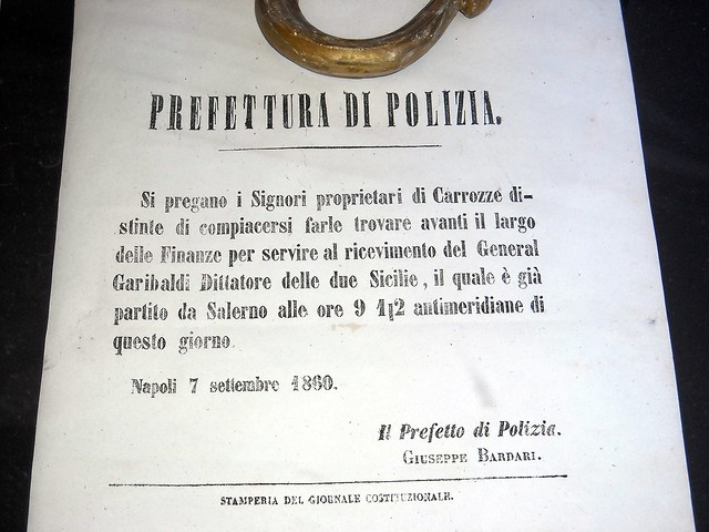 The conquest of Naples by Garibaldi, September 7, 1860: the end of Two Sicilies Kingdom (1130-1860)