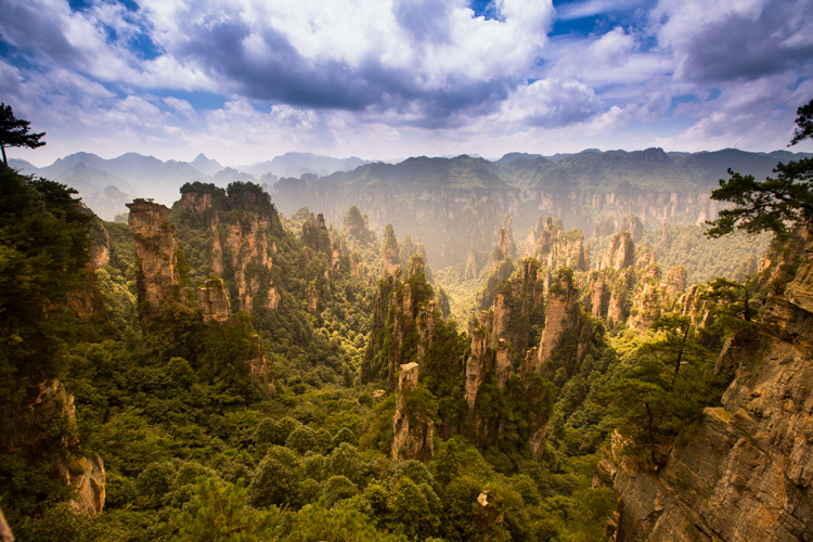 "Climbing the ""Avatar Mountains"" at Zhangjiajie"